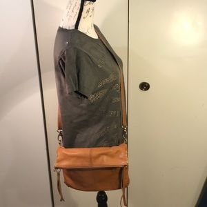Lucky Brand Leather Fold Crossbody Bag